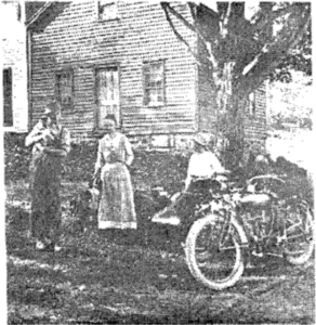 In this house, or under an apple tree nearby, was held the first Roman Catholic Mass in the Town of LaFayette, 1865. The structure was torn down by William Adsitt in 1919 and a new one was built upon the site. (Apulia R. lot 45-1874: P. Foley)