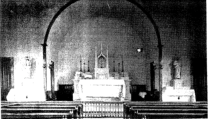 St. Joseph's Roman Catholic Church decorated for the Baccalaureate Service of June 26, 1938. Photograph by George Wenham.
